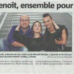 Maude, entourée de son coach vocal Mickael Besigot et son professeur de danse Benoit Tardieu